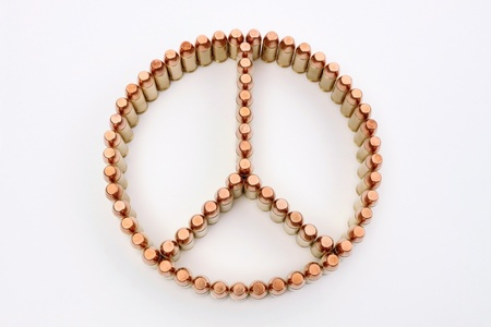 many bullets that make the peace symbol