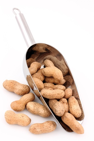 peanuts with a metal spoon