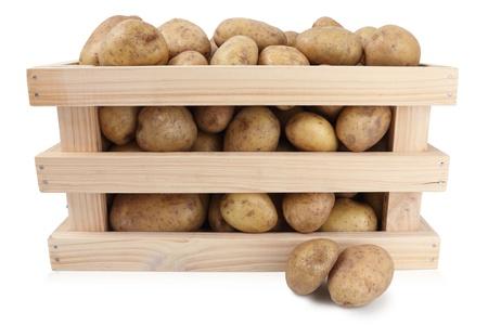 wooden basket: potato