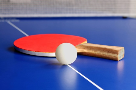 table tennis: tennis racket Stock Photo