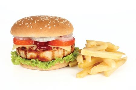 chicken burger: burger