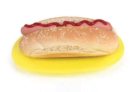 a hot dog on white background