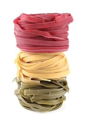 pasta isolated: raw pasta isolated on white background