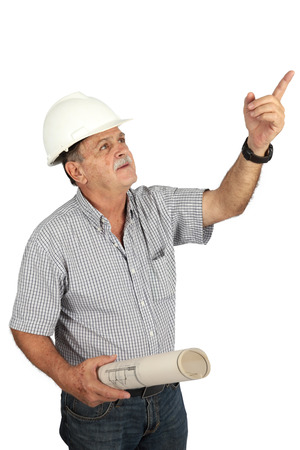 experiencing: Male construction worker