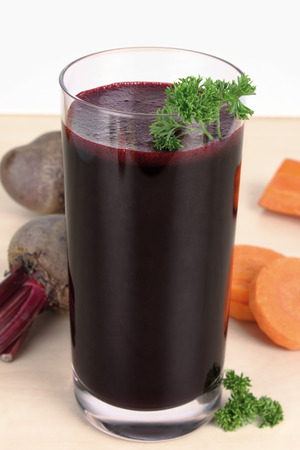 parsley digestion: juice Stock Photo