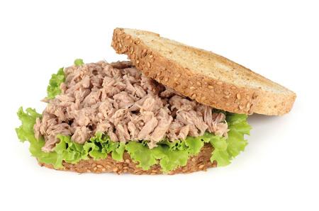 toast bread: tuna sandwich Stock Photo