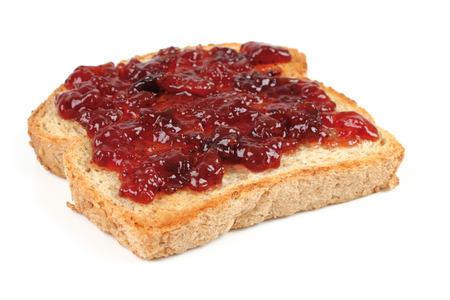 jam sandwich: bread with jam Stock Photo