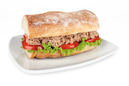 tuna sandwich Stock Photo