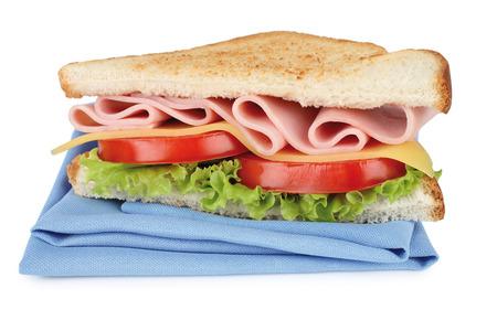 sandwich on white photo