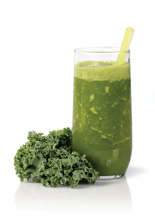 green Juice on white  Stock Photo