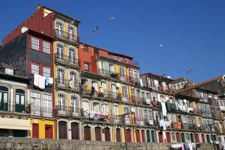 oporto: Oporto Ribeira, typical buildings, Portugal Stock Photo