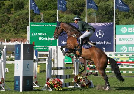 breen: VIMEIRO, PORTUGAL - JUNE 6: Equestrian International Show Jumping 3* - Trevor Breen (IRL) June 6, 2010 in Vimeiro, Portugal Editorial