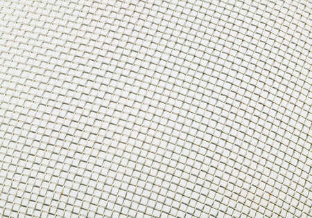 iron grid white background photo