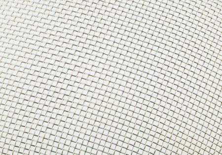 enclosures: sfondo bianco di griglia di ferro  Archivio Fotografico