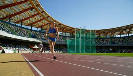 LEIRIA, PORTUGAL - JULY 17: Portuguese Athletics Championship, 400 meters final women , July 17, 2010 in Leiria, Portugal Stock Photo - 7405511