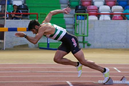 LEIRIA, PORTUGAL - JULY 17: Portuguese Athletics Championship, Joao Ferreira (SCP) 400 meters men , July 17, 2010 in Leiria, Portugal