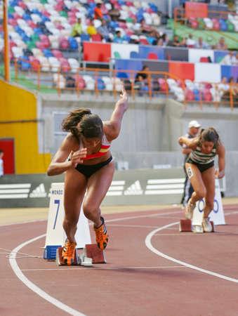 LEIRIA, PORTUGAL - JULY 17: Portuguese Athletics Championship, Mirian Tavares (ACDRA) 400 meters women , July 17, 2010 in Leiria, Portugal