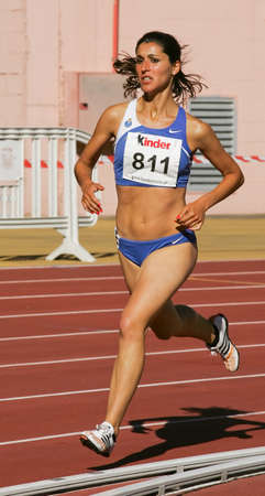 LEIRIA, PORTUGAL - JULY 17: Portuguese Athletics Championship,  Lidia Sousa  (FCP) 1500 meters  women , July 17, 2010 in Leiria, Portugal