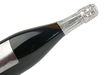 detail of champagnhe  bottle in white background Stock Photo - 7504372