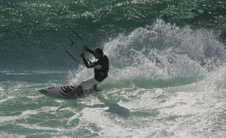 kiter: SANTA CRUZ, PORTUGAL - AUGUST 4:  Kitesurf Free Ride -  Ocean Spirit,  , August  4, 2010 in Santa Cruz, Portugal  Editorial