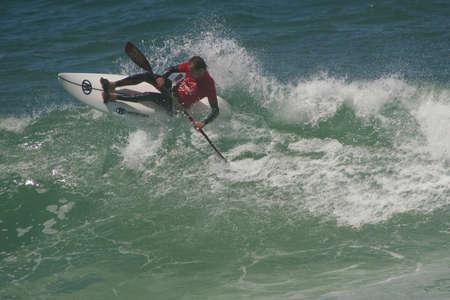 SANTA CRUZ, PORTUGAL - AUGUST 6: Edu Etxeberria (EUK) in International Open Waveski of Ocean Spirit 2010  , August  6, 2010 in Santa Cruz, Portugal