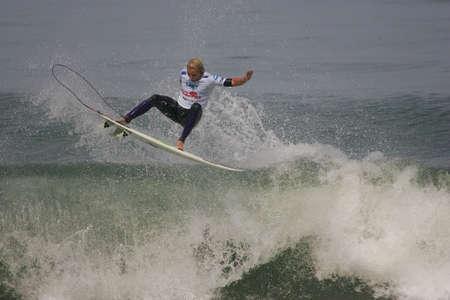 asp: FIGUEIRA DA FOZ, PORTUGAL - SEPTEMBER 14 : Charles Martin (GLP) in ASP World Qualifier 6 stars Lusiaves Figueira Pro 2010 September 14, 2010 in Figueira da Foz, Portugal Editorial