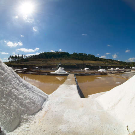 salina: view of saline exploration in Rio Maior - Portugal