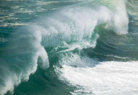 view of big waves crashing Stock Photo