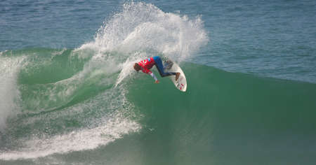 kelly: PENICHE, PORTUGAL - OCTOBER 14 : Kelly Slater (USA) in Rip Curl Pro 2010 Quarters Final  October 14, 2010 in Peniche, Portugal Editorial