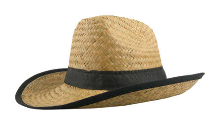 straw hat isolated in white background Stock Photo