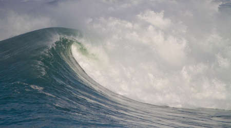 rough sea: big waves in stormy sea