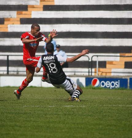 CALDAS DA RAINHA, PORTUGAL - APRIL 17: Joao Pinto, Portuguese Soccer III Division Serie E S.C. Caldas vs 1� de Dezembro April 17, 2011 in Caldas da Rainha, Portugal Stock Photo - 9690352