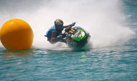 rui: CALDAS DA RAINHA, PORTUGAL - JUNE 12: Rui Sousa in Portuguese Jet Sky Championship on Obidos lagoon June 12, 2011 in Caldas da Rainha, Portugal
