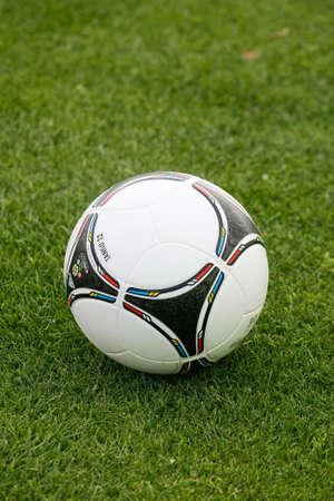 OBIDOS, PORTUGAL - MAY 21: Adidas Official Ball of Euro 2012 May 21, 2012 in Obidos, Portugal Stock Photo - 13714922