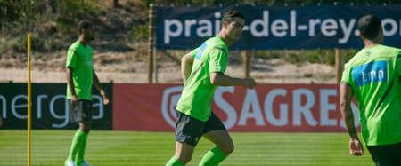 OBIDOS, PORTUGAL - MAY 23: Cristiano Ronaldo portuguese player in Euro 2012 May 23, 2012 in Obidos, Portugal