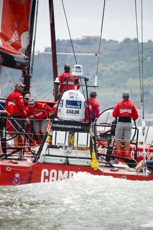 ketch: LISBON, PORTUGAL - JUNE 9: Camper Team in Volvo Ocean Race - Lisbon StopOver - Harbour Race June  9, 2012 in Lisbon, Portugal