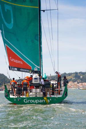 LISBON, PORTUGAL - JUNE 9: Groupama Sailing Team Volvo Ocean Race - Lisbon StopOver June - Harbour Race 9, 2012 in Lisbon, Portugal