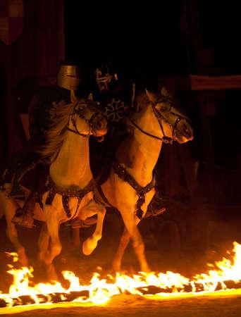 crusade: OBIDOS, PORTUGAL - JULY 26: Scenes of Medieval Market of Obidos 2012 July 26, 2012 in Obidos, Portugal