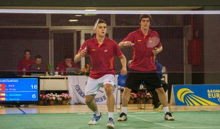 CALDAS DA RAINHA, PORTUGAL - March 06: A. Gonzales (left)  and  B. Ramirez (right) (ESP) in 49th Portuguese International Championships on March 06, 2014 in Caldas da Rainha, Portugal Editorial