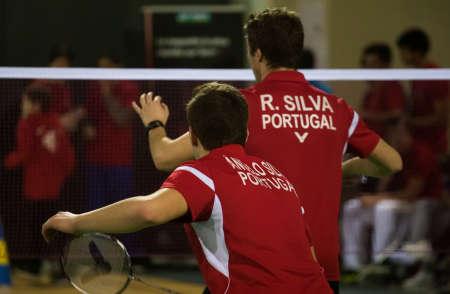 CALDAS DA RAINHA, PORTUGAL - March 06: A. Silva  and  R. Silva  (POR) in 49th Portuguese International Championships on March 06, 2014 in Caldas da Rainha, Portugal