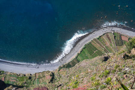 View from the highest Cabo Girao cliff in Madeira island, Portugal photo