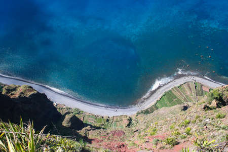 View from the highest Cabo Girao cliff in Madeira island, Portugal