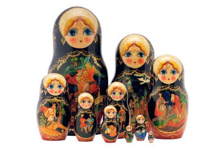 matryoshka dolls,isolated on white beautiful photo
