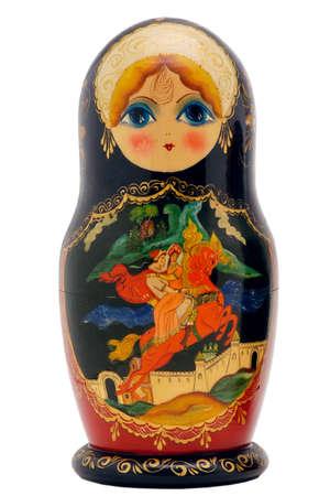 beautiful matryoshka doll isolated on white photo