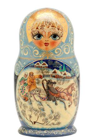 beutiful matryoshka doll isolated on white photo