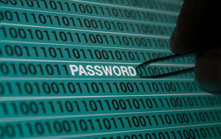 password: Contraseña truco Foto de archivo