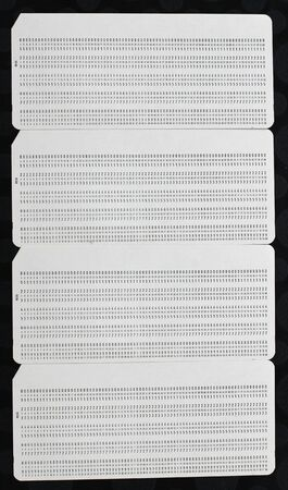 chads: Four blank punch cards