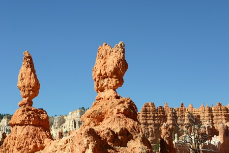 Hoodoos Against A Bright Blue Sky - Bryce Canyon, Utah photo