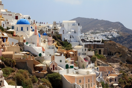 Oia in the morning - Santorini Island photo
