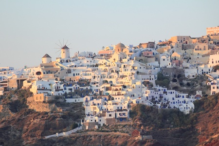 View Of Oia At Sunset - Santorini Island photo